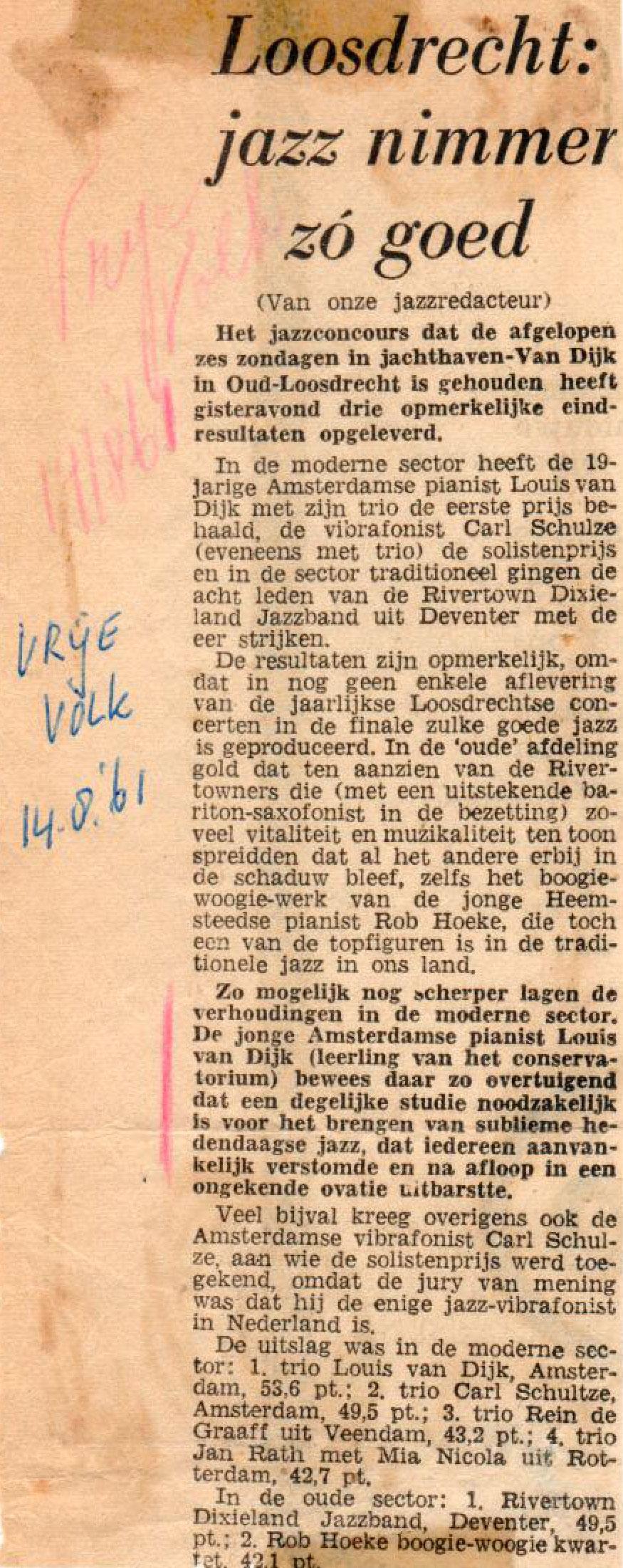 Jazzconcours Loosdrecht 1961